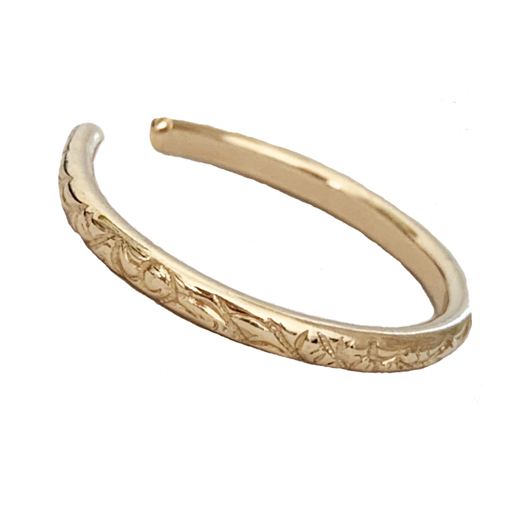 Summer Breeze Gold Toe Ring Side View