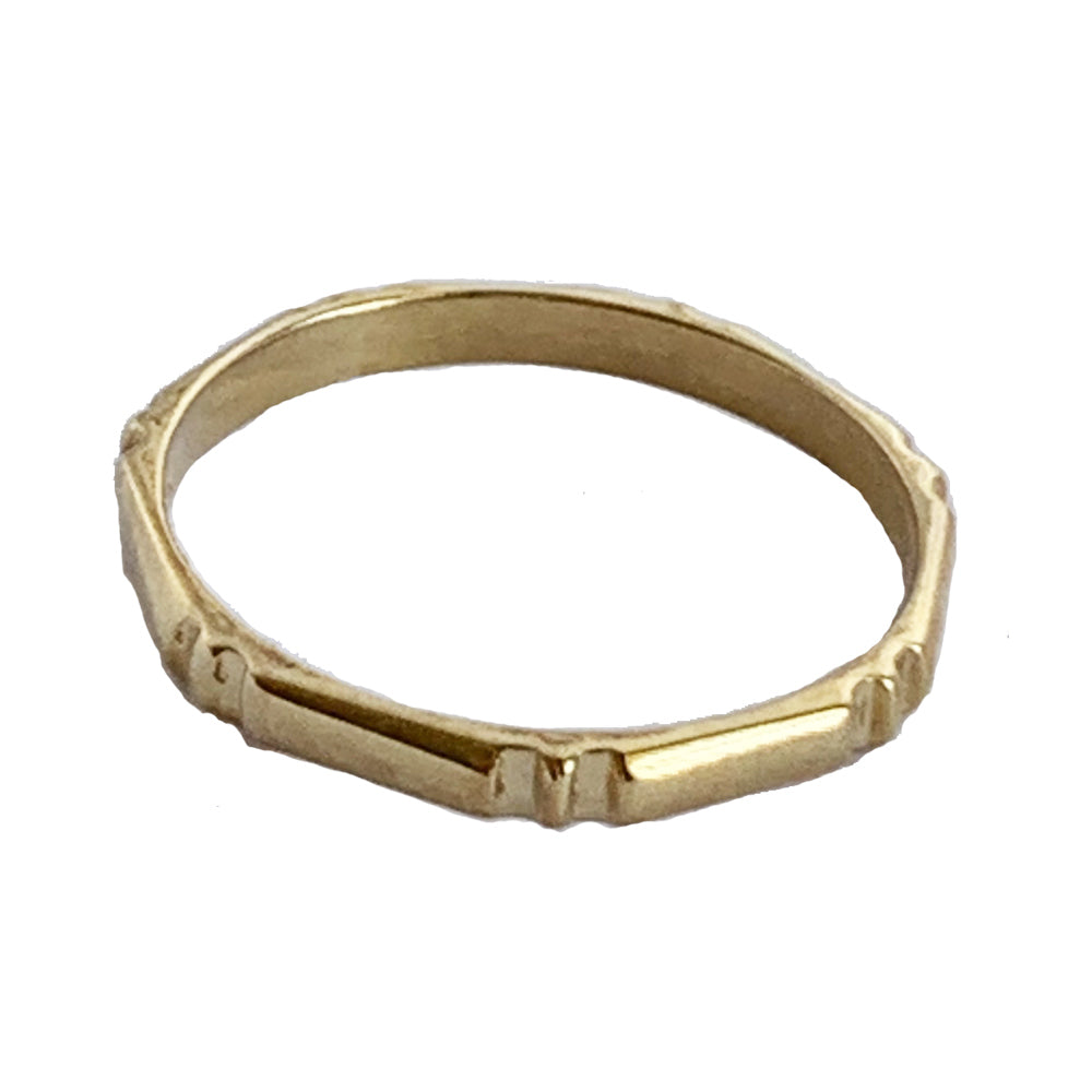 Bamboo 14K Gold Toe Ring