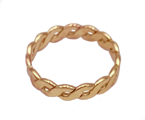 Braid Brawny Gold Fill Thumb Ring