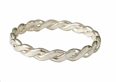 Braid Medium Sterling Thumb Ring