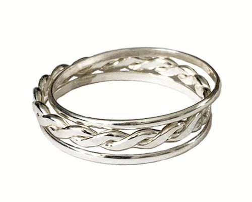 Bands & Braid Stackable Sterling Thumb Rings