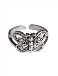 Butterfly Sterling Adjustable Toe Ring