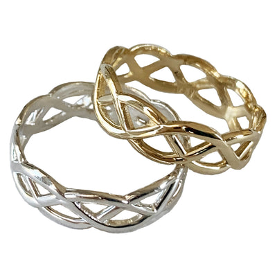 Celtic Weave 14K Gold and Sterling Silver Toe Rings