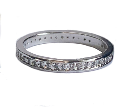 CZ Micro Eternity Sterling Toe Ring