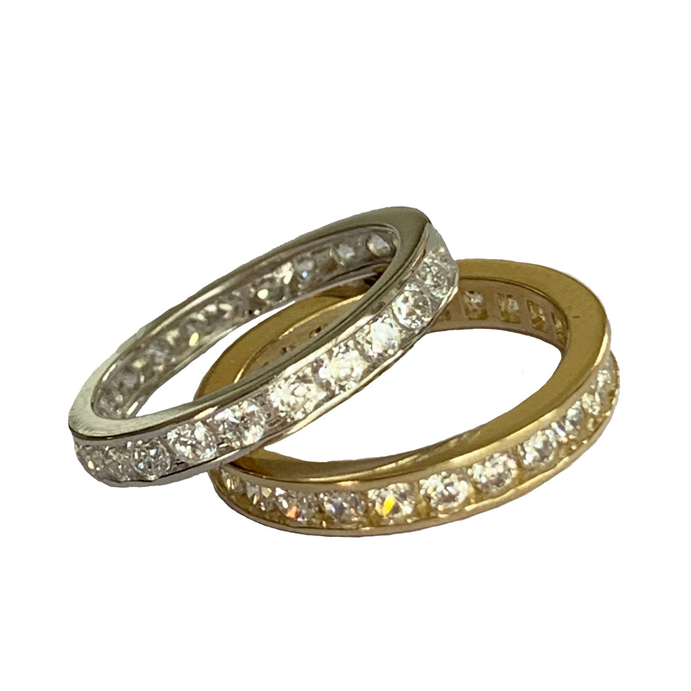 CZ Eternity Band Toe Ring