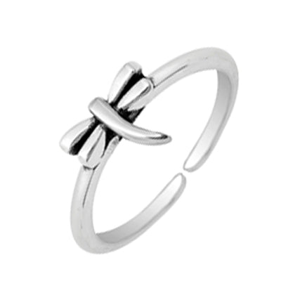 Dragonfly Sterling Adj Toe Ring
