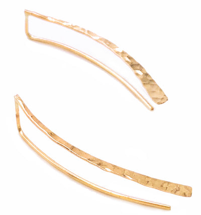 Curvy Threader Drop Earrings in 14K Gold Fill or Sterling Silver