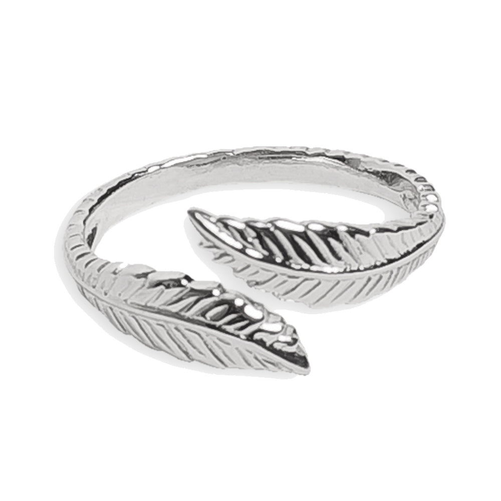 Feather Sterling Adj Toe Ring