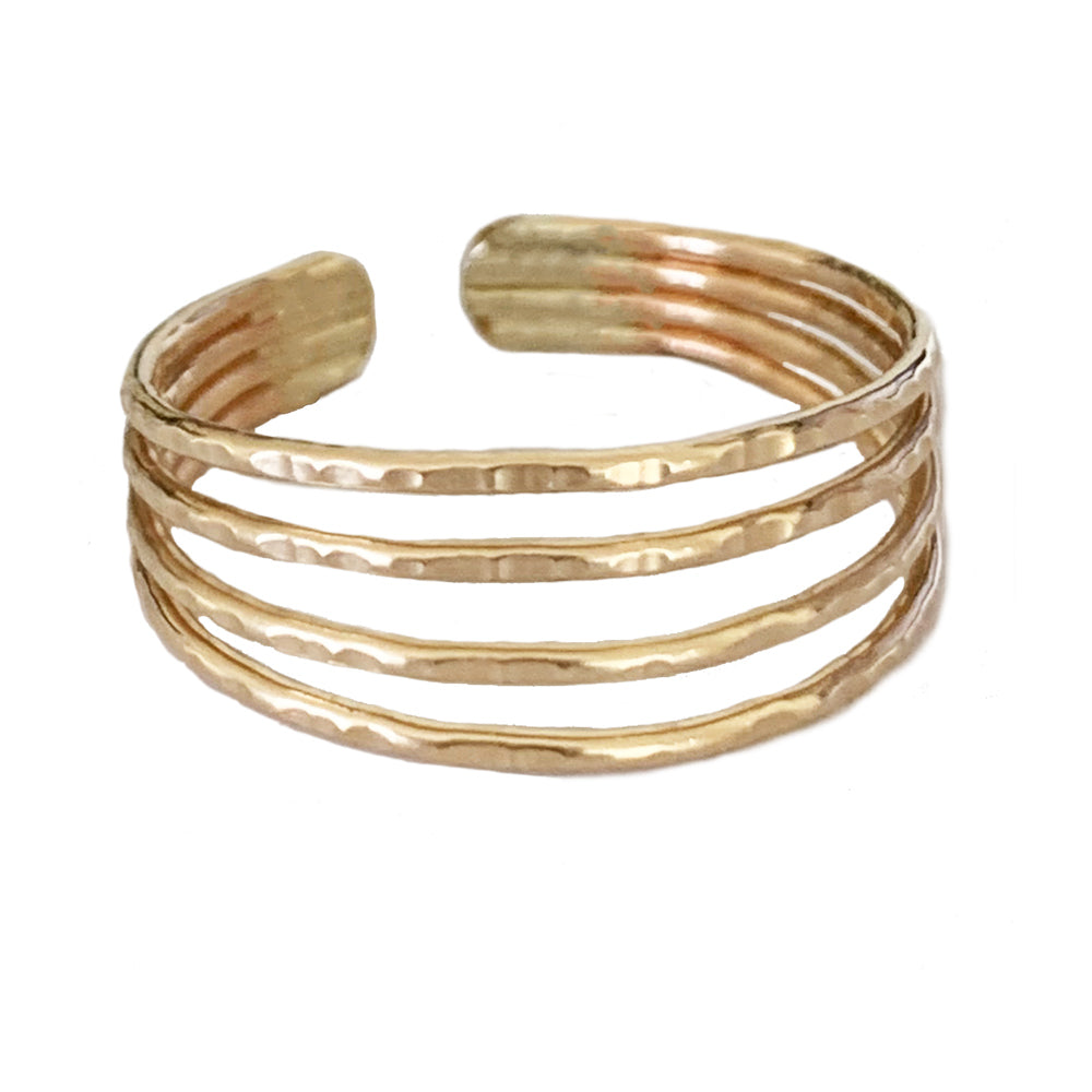New! Four Strand Gold Adjustable Toe Ring