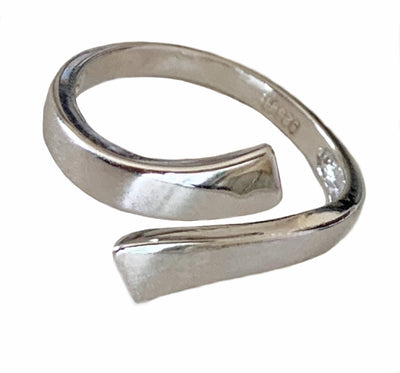 Wrap Around Sterling Adj Toe Ring