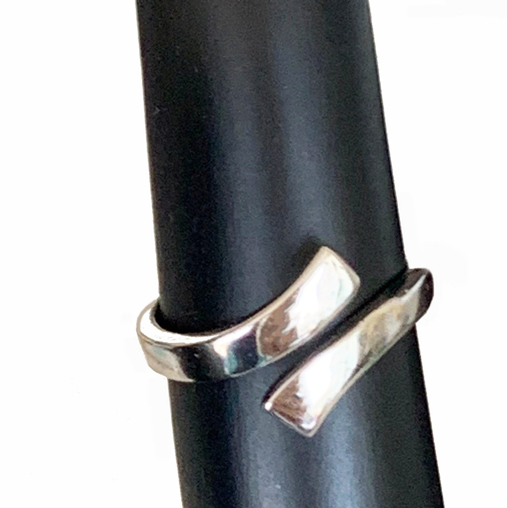 Wrap Around Sterling Adjustable Toe Ring shown on a display