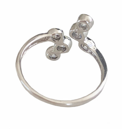 CZ High Seas Sterling Adj Toe Ring