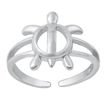 Honu Hawaiian Turtle Sterling Adj Toe Ring