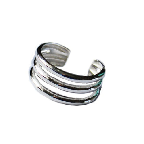 Triple Strand Sterling Adjustable Toe Ring