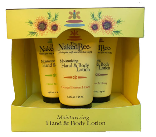 The NakedBee Hand and Body Lotion 3pk