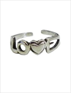 Love Sterling Adjustable Toe Ring