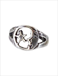 Moon & Star Sterling Adjustable Toe Ring