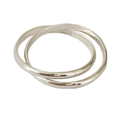Intertwine Rolling Sterling Thumb Ring