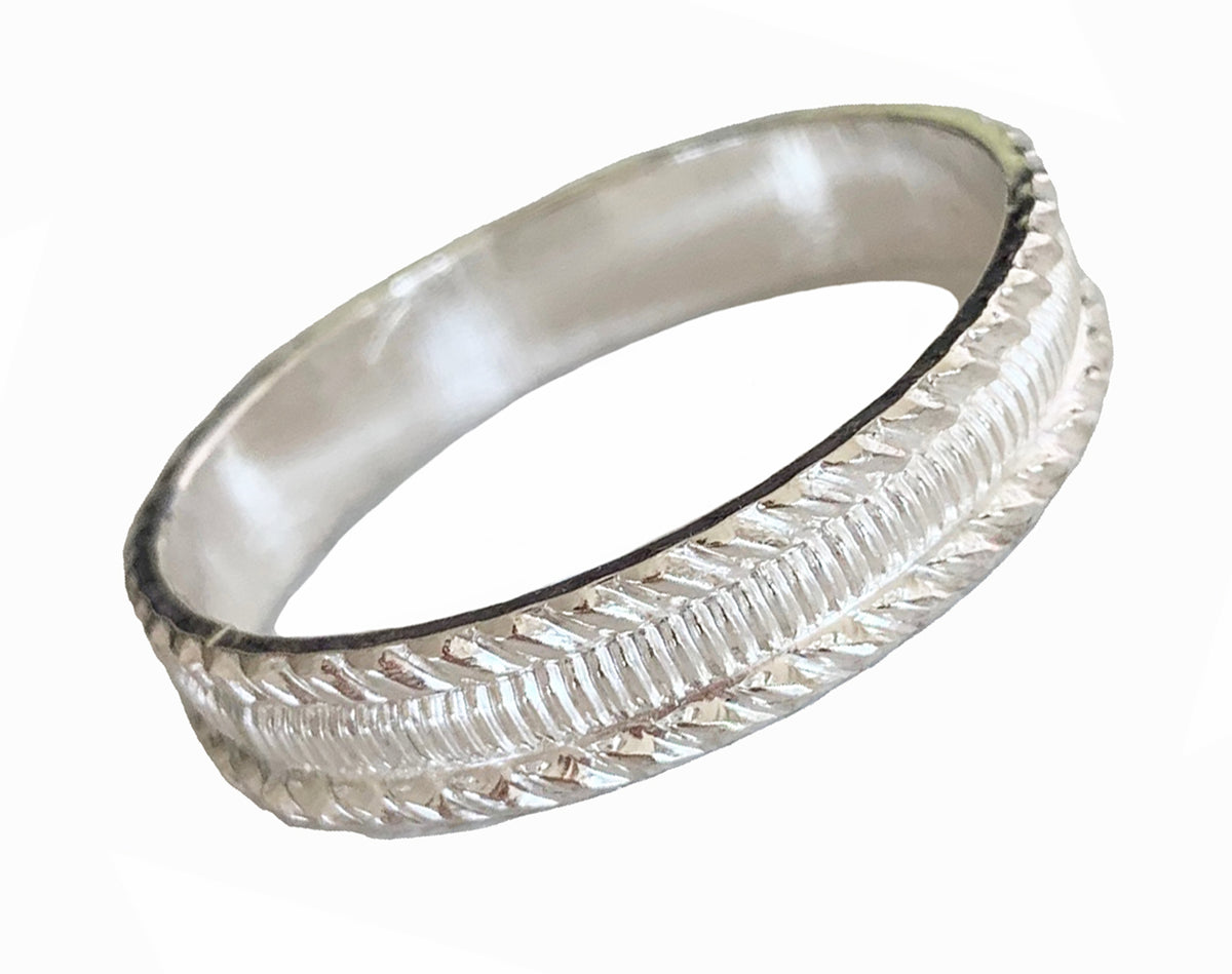 Tiki Sterling Thumb Ring