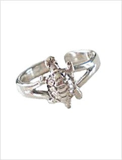 Turtle Sterling Adjustable Toe Ring
