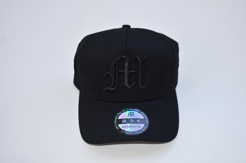 Mac A-Frame Snapback Hat (Black)