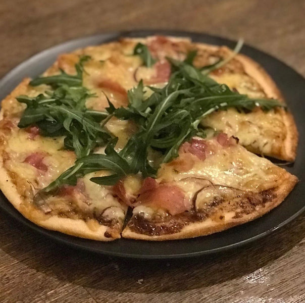 Prosciutto and Rocket Pizza with Rum & BBQ Sauce