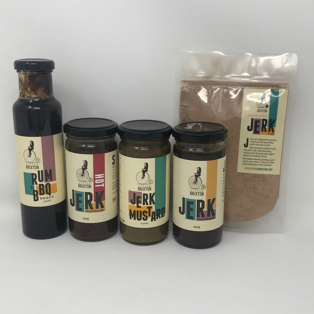 Jerk Marinade, Jerk Seasoning, Jerk Rub, Jerk Mustard, Gift pack