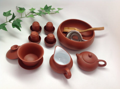Gaiwan Yixing Clay Tea Set 14pcs