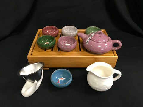 Chinese Tea Set Ice Crack #106