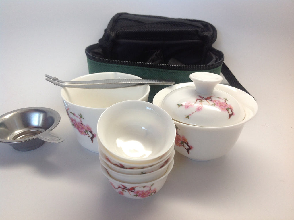 Travel Tea Set bird flower #89 $26.95