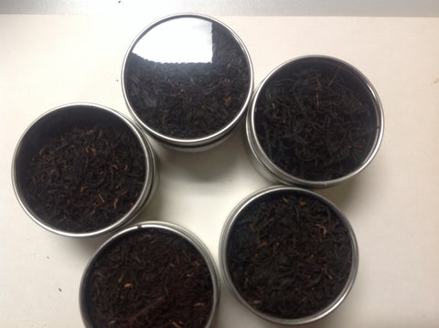 Tea Sampler  (5 kind of black tea with Clear Tin top)