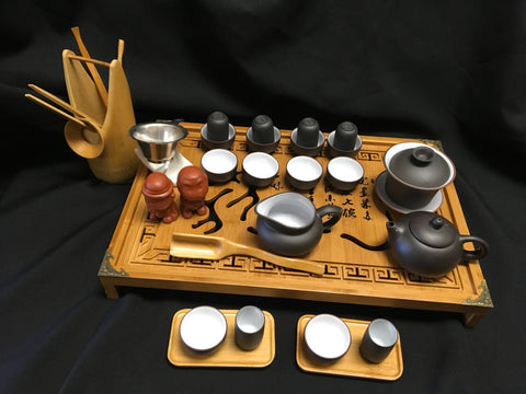 Yixing tea set  Large tea set with large Bamboo tea tray #288