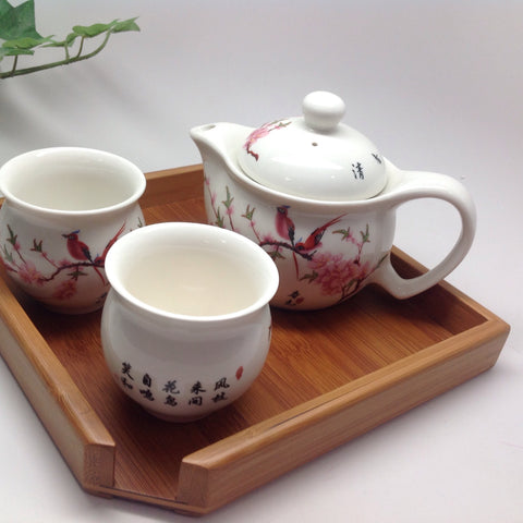 Loving tea set for One Tea Pot W Two Cups