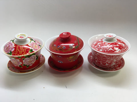 Gaiwan Chinese  Wedding Tea Cups