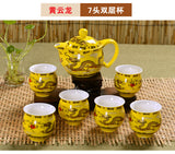 Double Wall Cups Tea Set- Best Seller