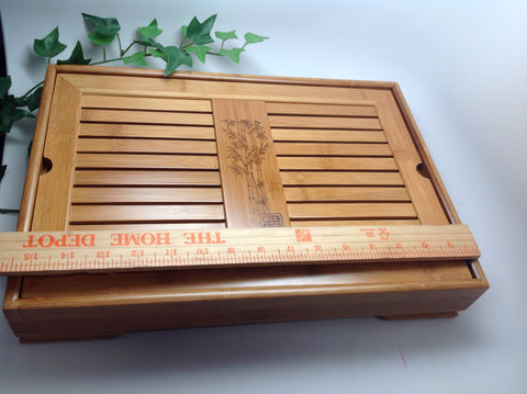 Bamboo Extra Fancy Large  Tea Tray JY003