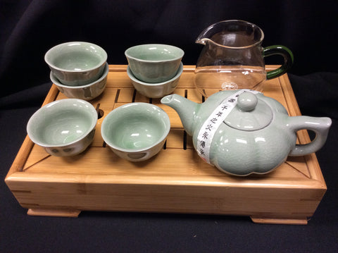 Ice crack tea set Green #18