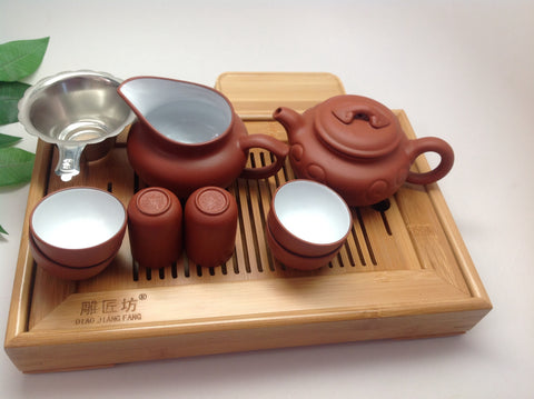 Yixing Red  Clay (RUYI) Tea Starter Set -On Sale Best Seller Tea set #66