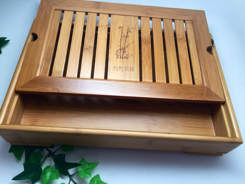 Fancy Bamboo Tea Tray JZ002
