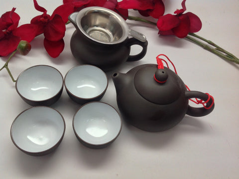 Yixing Tea Set( Black Zhisha) #210 7pcs $49.95