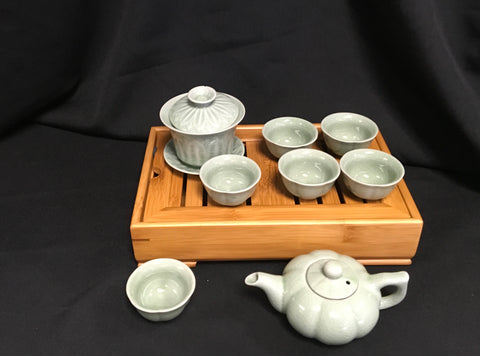 Chinese Tea Set Ice Crack Green #170