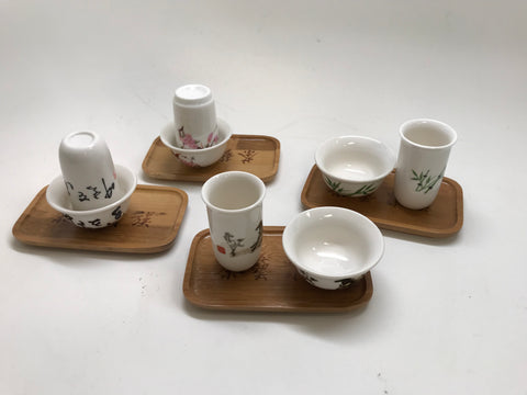 Chinese Tea Cermenoy Tea tasting cups Mix Set - 4 set