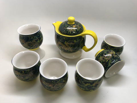 Green Dragon Tea Set - Double Wall Cups