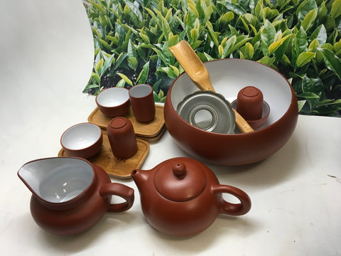 Yixing Clay Tea Set 14pcs Red and white best seller limited offer