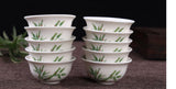 Chinese Gong fu tea cups bamboo cups mix of 6