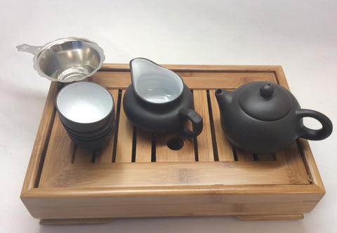 Yixing Clay Tea Starter Set -black and white On Sale