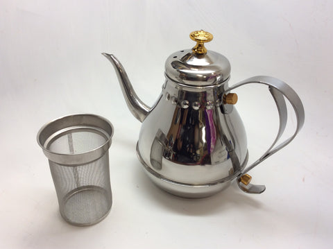 Tea pot - with strainer inside -Stainess steel