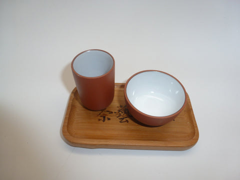 Tasting Cup with Bamboo Coaster 29 $9.00 Per Set