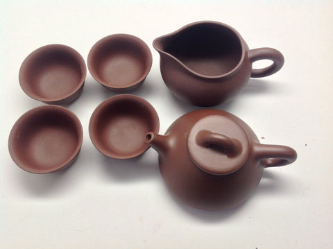 Yixing Tea Set C ( Sipiao Brown Zhisha) $69.95