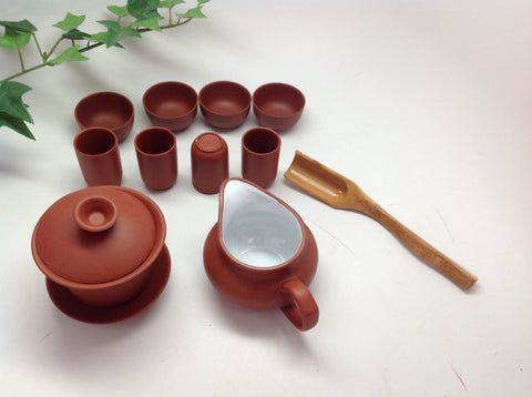 Yixing  Clay Red Purple Clay Tea Set -On Sale